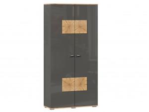 Шкаф 2х-дверный шириной 920 мм. с 10-ю полками и с накладками на дверях - (659.150.А)
