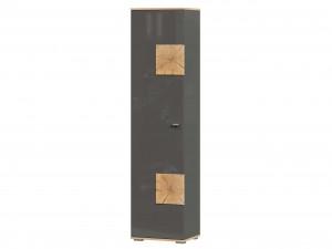 Шкаф 1-дверный с 5-ю полками шириной 462 мм. и с накладками на двери - петли СЛЕВА - (659.160.AL)