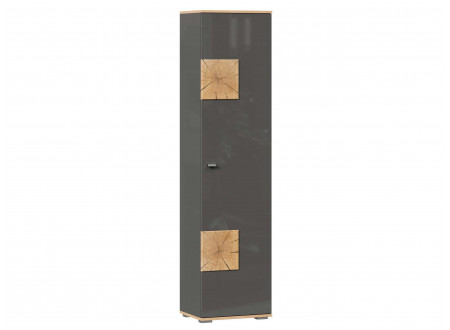 Шкаф 1-дверный с 5-ю полками шириной 462 мм. и с накладками на двери - петли СПРАВА - (659.160.AR)