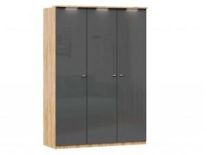 Шкаф 3х-дверный с полками СЛЕВА и со штангой - (659.221.231)