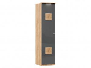 Шкаф 1-дверный с 6-ю полками со штангой и с накладками на двери - петли СЛЕВА - (659.222.L)