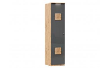 Шкаф 1-дверный с полками и штангой - ЛД 659.222.L - фабрика мебели Любимый дом