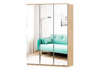 Шкаф 3х-дверный с зеркалами, с полками СПРАВА и со штангой - (659.233.223)