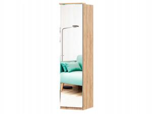 Шкаф 1-дверный зеркальный с 6-ю полками и со штангой - петли СПРАВА - (659.223.R)