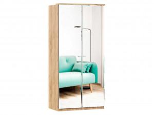 Шкаф 2х-дверный с 2-мя зеркалами, с 3-мя полками и со штангой - (659.233)