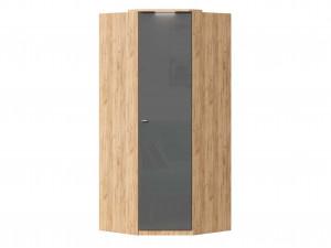Угловой шкаф 1-дверный с полками СЛЕВА и со штангой СПРАВА - петли СПРАВА - (659.244.R)