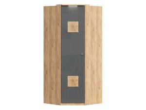 Угловой шкаф 1-дверный с декором, с полками СЛЕВА и со штангой СПРАВА - петли СЛЕВА - (659.245.L)