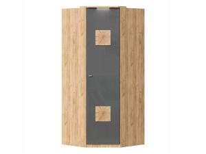Угловой шкаф 1-дверный с декором, с полками СЛЕВА и со штангой СПРАВА - петли СПРАВА - (659.245.R)