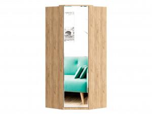 Угловой шкаф 1-дверный с зеркалом, с полками СЛЕВА и со штангой СПРАВА - петли СЛЕВА - (659.246.L)