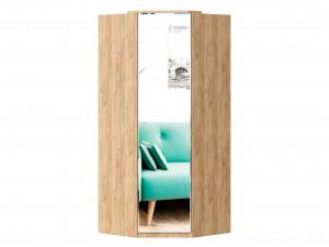 Угловой шкаф 1-дверный с зеркалом, с полками СЛЕВА и со штангой СПРАВА - петли СПРАВА - (659.246.R)