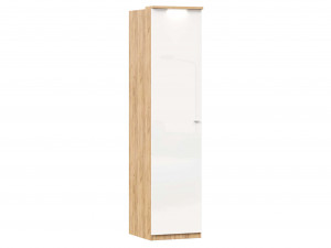Шкаф 1-дверный с 6-ю полками и со штангой в комплекте - петли СЛЕВА - (659.224.L)