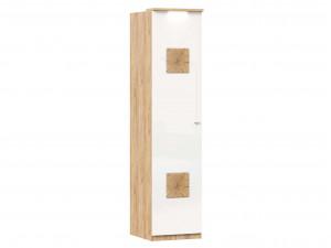Шкаф 1-дверный с 6-ю полками со штангой и с накладками на двери - петли СЛЕВА - (659.225.L)