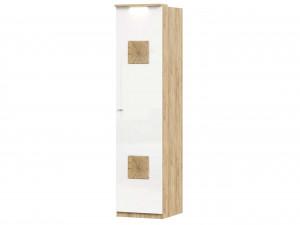 Шкаф 1-дверный с 6-ю полками со штангой и с накладками на двери - петли СПРАВА - (659.225.R)
