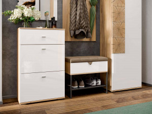 Шкаф 1-дверный с вешалкой для верхней для одежды, шириной 590 мм. - петли СЛЕВА - (659.300.WL)