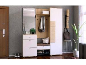 Шкаф 1-дверный с вешалкой для верхней для одежды, шириной 590 мм. - петли СПРАВА - (659.300.WR)