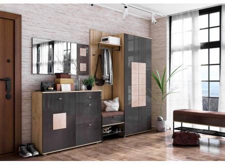 Шкаф 1-дверный с вешалкой для верхней для одежды, шириной 590 мм. - петли СЛЕВА - (659.300.AL)