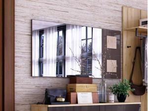 Зеркало настенное шириной 1190 мм с декоративными накладками - (659.420.RA)