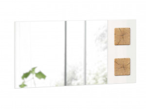 Зеркало настенное шириной 1190 мм с декоративными накладками - (659.420.LW)