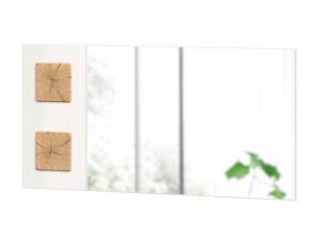 Зеркало настенное шириной 1190 мм с декоративными накладками - (659.420.RW)