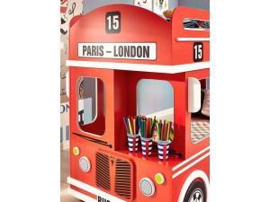 Двух-ярусная кровать - London BUS - спальные места 90*190 - 513.000