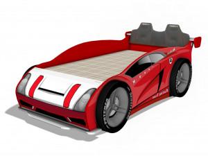 Кровать-машина без матраса со спальным местом 80*160 - 514.013 (с 4-мя колесами и с мягкой спинкой)