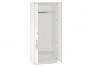 Двух-дверный шкаф со штангой и 2-мя полками - 527.070