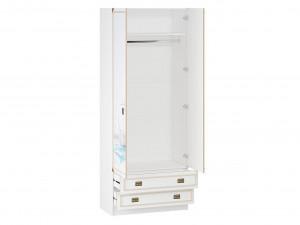 Двух-дверный шкаф со штангой и 2-мя ящиками - 527.090