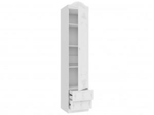 Одно-дверный шкаф с 4-мя полками и 2-мя ящиками внизу - 525.040 (универсальный - дверь СЛЕВА / СПРАВА)