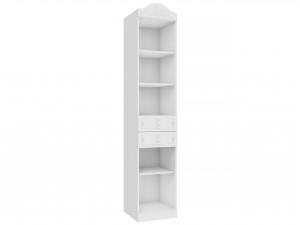 Одно-секционный шкаф-стеллаж с нишами и с 2-мя ящиками - 525.070