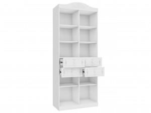 Двух-секционный шкаф-стеллаж с нишами и с 4-мя ящиками - 525.080