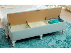 Банкетка шириной 1520 мм, с откидным сиденьем - 665.150 (цвет Мятный)