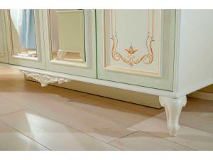 Трех-дверный шкаф c зеркалом, с полками и со штангой - 665.074