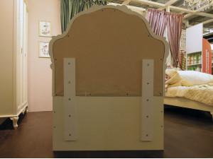 Кровать с резным изголовьем с мягкой вставкой, с решеткой и без матраса, сп. место 90*200 - 665.065