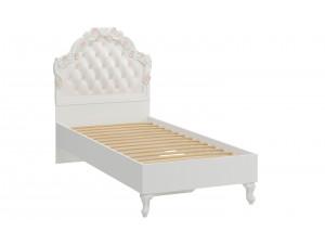 Кровать с резным изголовьем с мягкой вставкой, с решеткой и без матраса, сп. место 90*200 - 665.260