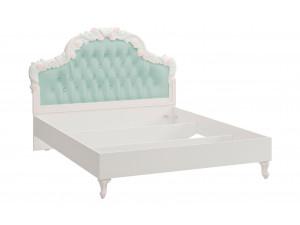 Кровать с резным изголовьем с мягкой вставкой, без решетки и без матраса, сп. место 160*200 - 665.343