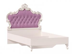 Кровать с резным изголовьем с мягкой вставкой, без решетки и без матраса, сп. место 120*200 - 517.291