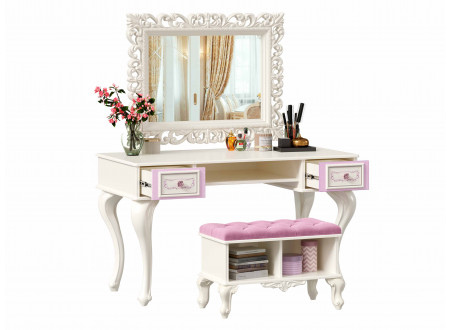 Стол письменно-туалетный на высоких ногах, с 2-мя выдвижными ящиками - 517.040
