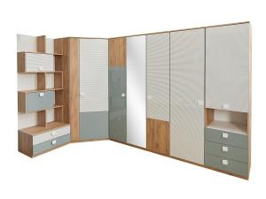 Шкаф-стеллаж одно-дверный с полками и одним ящиком - 522.101 (универсальный ЛЕВО / ПРАВО)