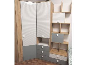 Угловой 2х-дверный шкаф - 522.051 (универсальный - дверь СЛЕВА / СПРАВА)