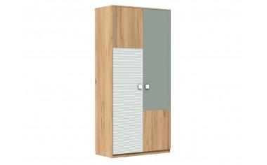 Двух-дверный шкаф с полками и штангой - 522.041