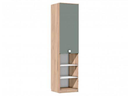 Одно-дверный шкаф с полками и с 3-мя нишами внизу - 522.071 (универсальный ЛЕВО / ПРАВО)