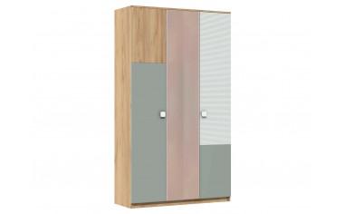 Трех-дверный шкаф с зеркалом в середине - 522.171