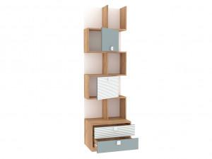 Шкаф-стеллаж шириной 600 мм, с 2-мя дверками и 2-мя ящиками внизу - 522.181