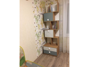 Шкаф-стеллаж двойной, шириной 900 мм. с 6-ю дверками - 522.191