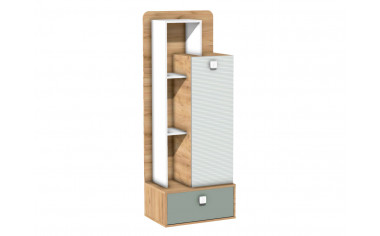Одно-дверный шкаф с полками и с 3-мя ящиками - 522.061