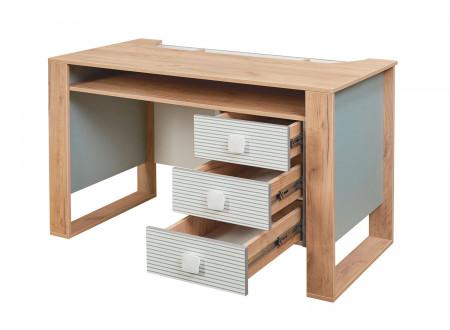 Письменный стол, прямой с одной тумбой с ящиками - 522.151 (универсальный - тумба СЛЕВА / СПРАВА)