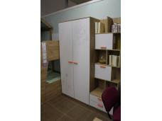 2х-дверный шкаф - 524.040 (отделение со штангой и отделение с полками)