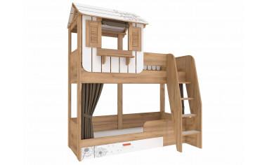 2-х ярусная кровать с лестницей и надстройкой арт. 524.011