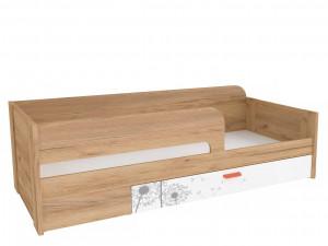 Кровать со спальным местом 80*190 без матраса с выдвижным ящиком - 524.140