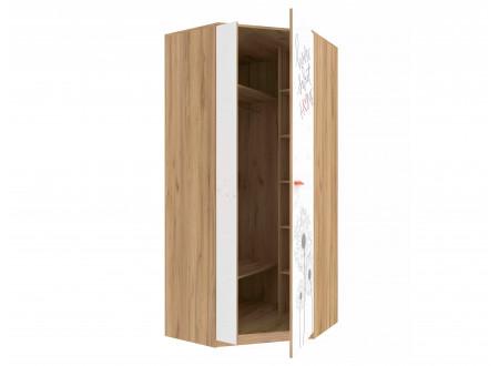 Угловой 2х-дверный шкаф - 524.050 (малая дверь СЛЕВА / широкая СПРАВА)